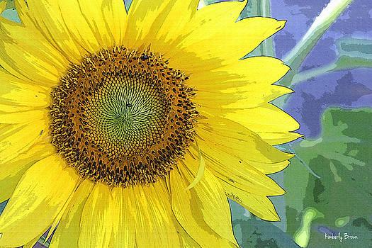 Sunflowers All Around by Kimberly  Brown