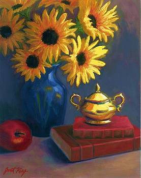 Janet King - Sunflowers and Sugar Bowl