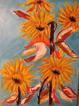 Sunflowers At Harvest by Sharyn Winters