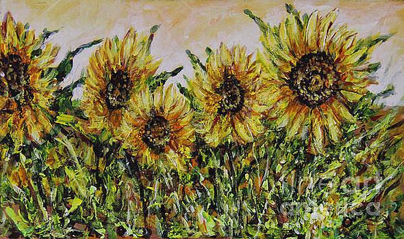 Sunflowers by Dariusz Orszulik