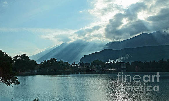 Sunlight on Lake Garda by Liz Alderdice