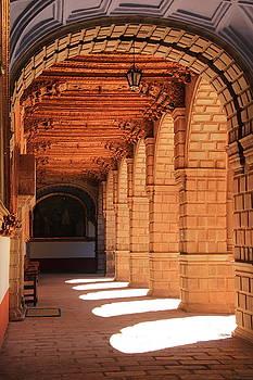 Sunlit Convent Arches by Roupen  Baker