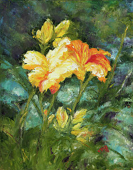 Sunlit Flowers by Maria Gibbs
