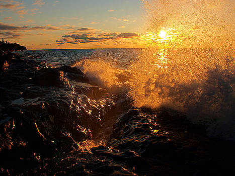 Sunlit Spray by James Peterson