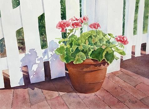 Sunny Day Geraniums by Bobbi Price