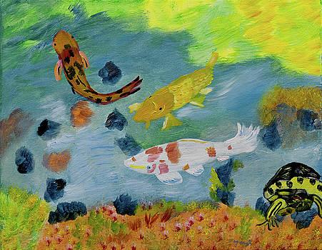 Sunny Koi Fish  by Meryl Goudey