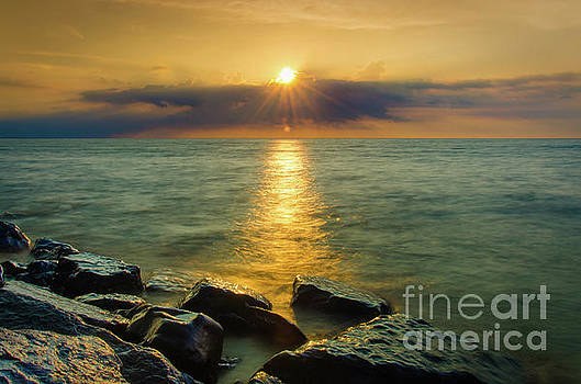 Sunray on Water Landscape Photo by Melissa Fague