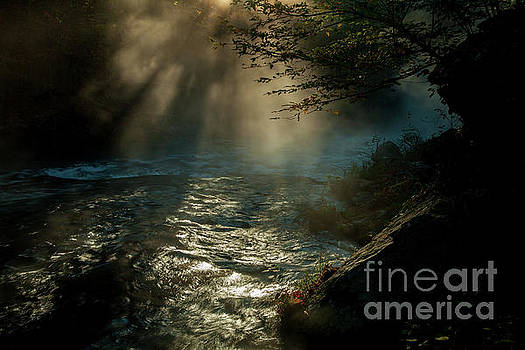 Sunrays at Fork River by Iris Greenwell