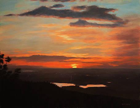 Sunrise Above Boulder by William Frew
