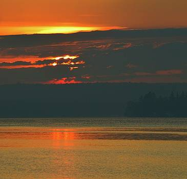 Sunrise Across The Bay Two  by Lyle Crump