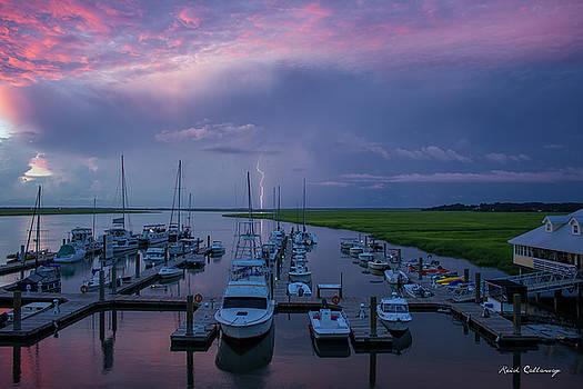 Sunrise and Thunderstorm Tybee Island Georgia by Reid Callaway