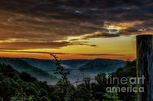 Sunrise and Valley Fog by Thomas R Fletcher
