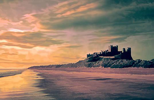 Sunrise at Bamburgh Castle by Brian Tarr