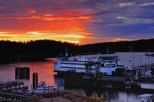 Sunrise at Friday Harbor by Bob Stevens