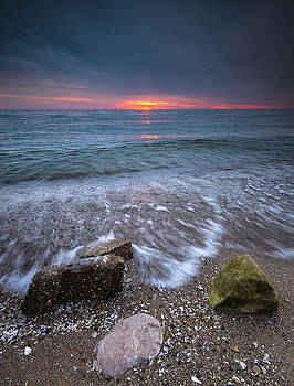Sunrise at Sandpoint Beach by Cale Best