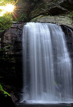 Sunrise At The Looking Glass Falls 006 by George Bostian