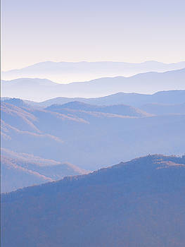 Sunrise Atop Clingman's Dome  MTriptych by Jeff Abrahamson