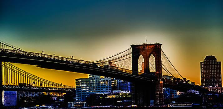 Sunrise Brooklyn Bridge by Mike Berry