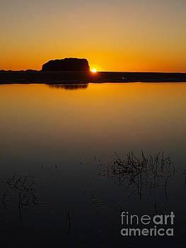 Sunrise  Calm Water by Trena Mara