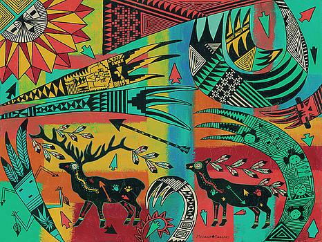 Sunrise Elk by Medana Gabbard