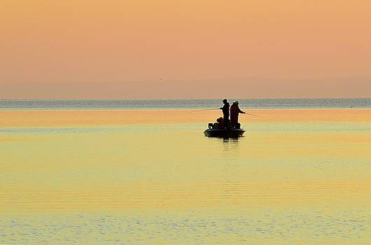 Sunrise Fishing Two  by Lyle Crump