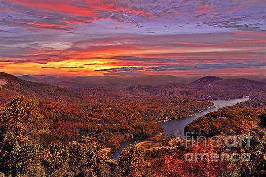 Sunrise From Chimney Rock by Jeff McJunkin
