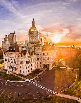 Sunrise in Hartford Connecticut by Petr Hejl
