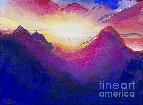 Sunrise In Mountain by Barbara Klimova