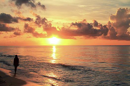Sunrise in Playa Del Carmen by Roupen  Baker