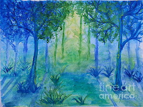 Sunrise In the Forest by Karleen Kareem