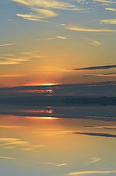 Sunrise Moment Reflection  by Lyle Crump