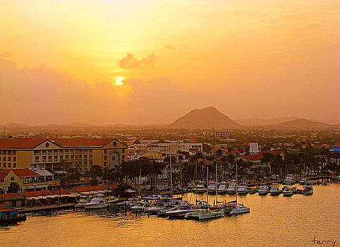Sunrise on Aruba by Terry Temple
