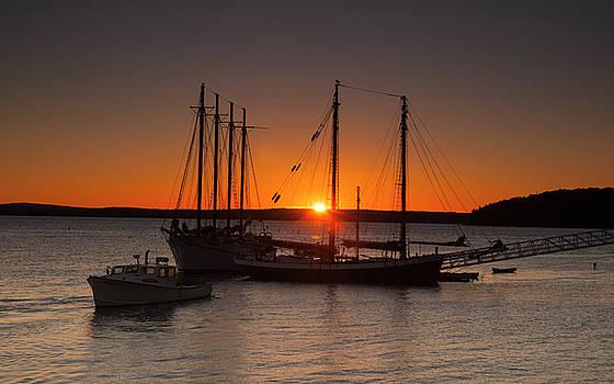 Sunrise on Bar Harbor by Mick Burkey