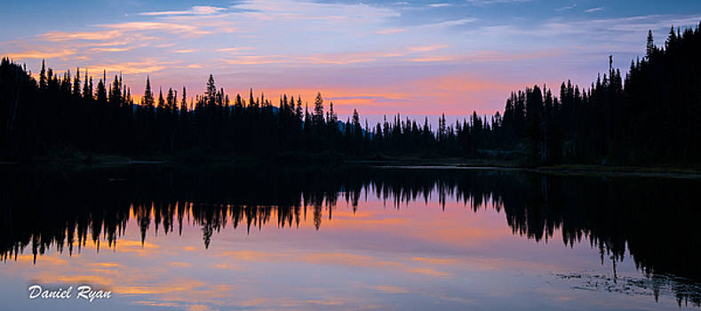 Sunrise on Reflection Lake by Daniel Ryan