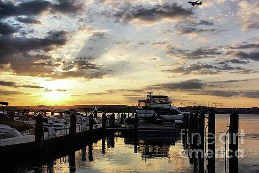 Sunrise On The Alexandria Waterfront by John S