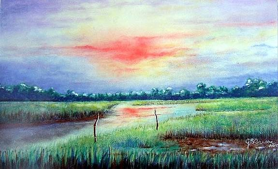 Sunrise on the Creek by Judy Pearson