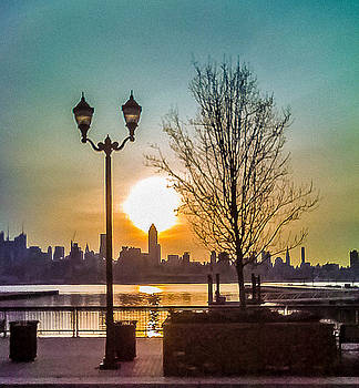 Sunrise over Empire State Building by Kathleen McGinley