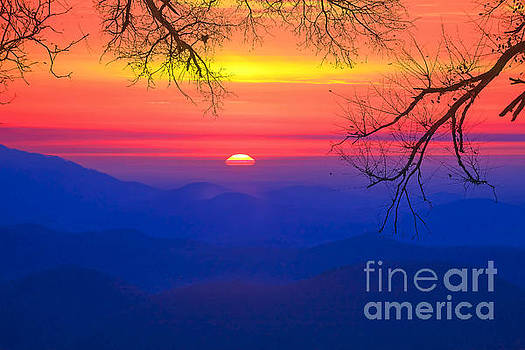 Sunrise  over Pretty Place by Geraldine DeBoer
