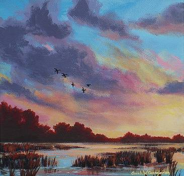Sunrise Over the Marsh by Sarah Grangier