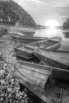 Debra and Dave Vanderlaan - Sunrise Rowboats  in Black and White