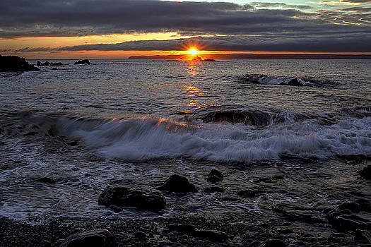 Sunrise Seascape Over Sail Rock by Marty Saccone