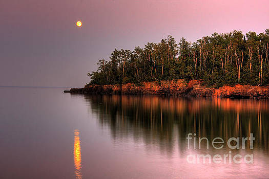 Sunrise Sunset on Lake Superior 2 by Wayne Moran