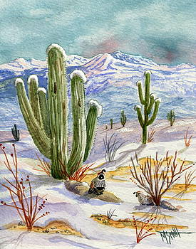 Sunrise Surprise In The Desert by Marilyn Smith