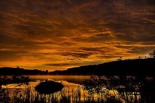 Sunrise Torpy pond by Rhys Templar