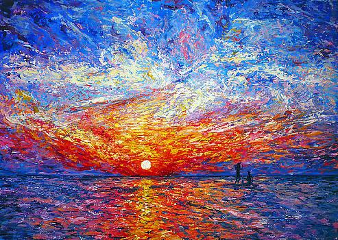 Sunrise With Fishermen by Ericka Herazo
