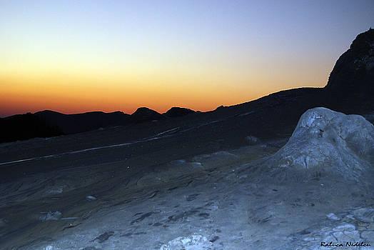 Sunset - Mud Volcanoes 2 by Raluca Nedelcu