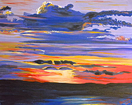 Sunset #5 by Donna Blossom