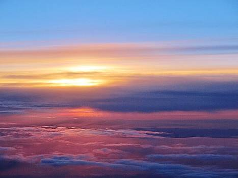 Sunset Above The Clouds by Valia Bradshaw