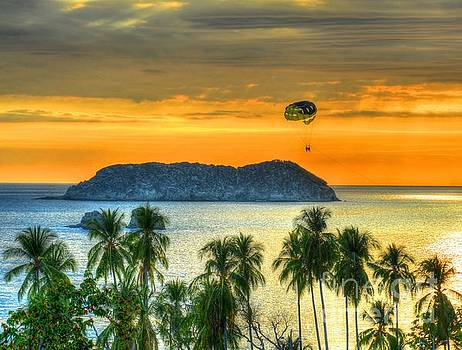 Sunset and Parasail by Debbi Granruth