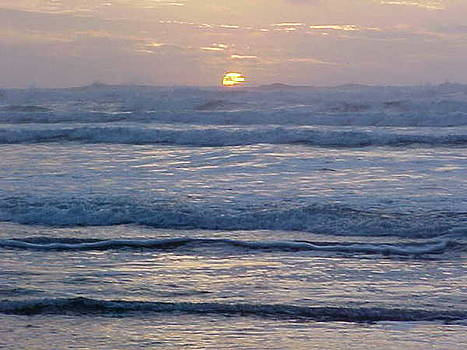 Sunset and Waves by Gregory Smith